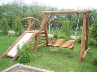 Columpio madera jardin tobogan vaes casas de madera columpios - Columpio madera jardin ...